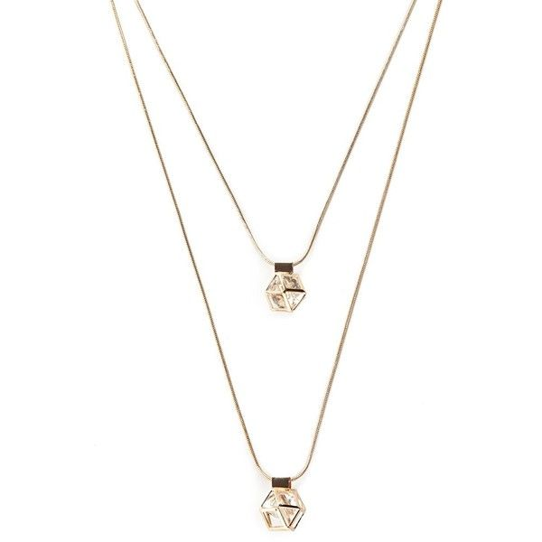 Forever 21 Geo Necklace Set ($6.90) ❤ liked on Polyvore featuring jewelry, necklaces, forever 21, geometric necklace, geometric jewelry, set necklace and forever 21 jewelry