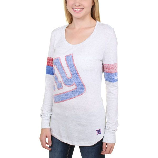 New York Giants Nike Women's Take it Long Long Sleeve T-Shirt - White - $35.99