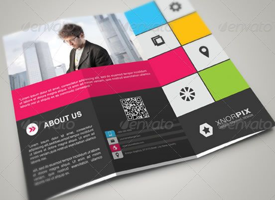 Creative TriFold Brochure Design Templates  Entheosweb