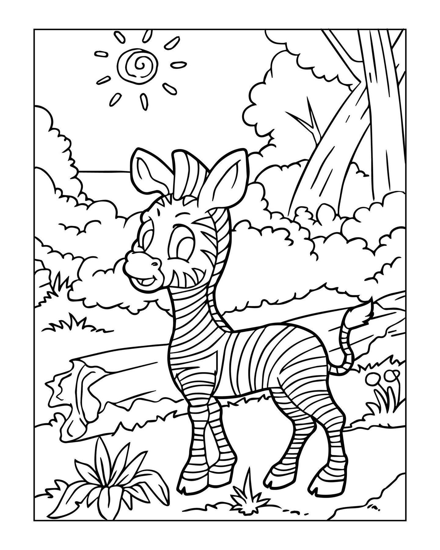 Zoo Animal Coloring Page 14 Zoo Animal Coloring Pages Zoo Coloring Pages Animal Coloring Pages [ 1799 x 1440 Pixel ]