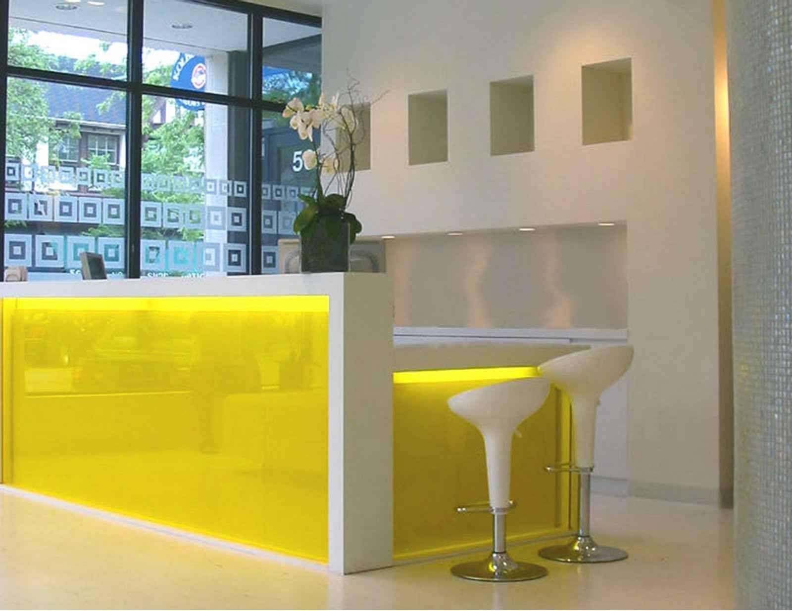 Yellow ikea reception desk ideas clinic ideas office reception