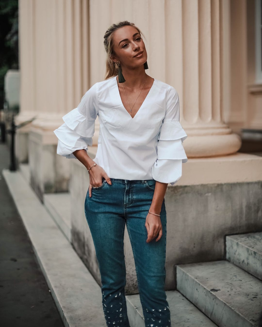 Please can ruffle sleeves NEVER go out of fashion. Adding ...