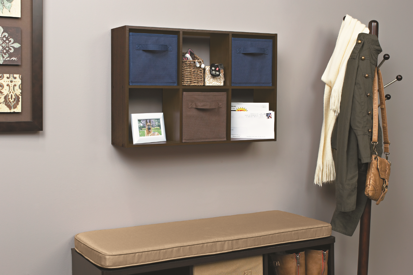 Short On Space In The Mudroom Use Every Inch With A Mini 6 Cube Organizer Mudroomorganization Mudroomstorage Mi Cube Organizer Closetmaid 6 Cube Organizer