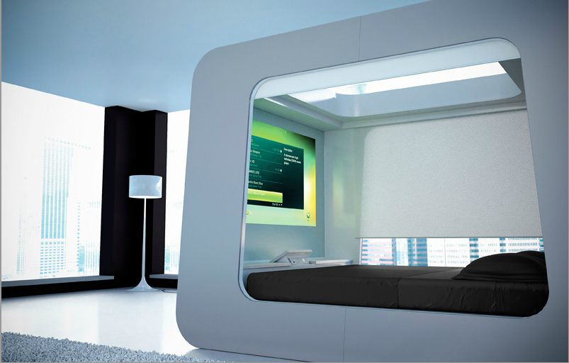 HiCan Bed Canopy Futuristic bed, Futuristic bedroom