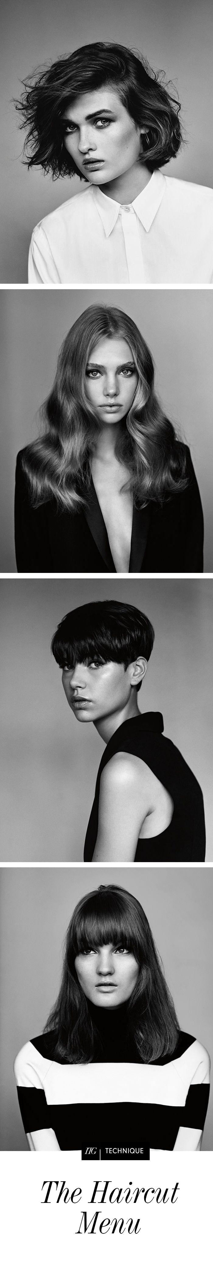 The haircut menu haircuts hair inspiration and chin length hair