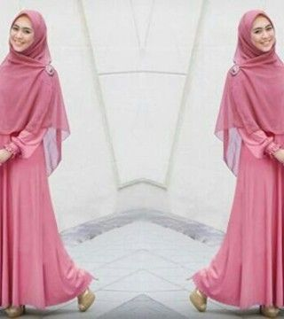 Maxi dress sifon tanah abang retail