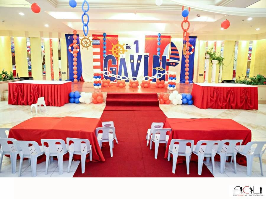 Huge Nautical Theme Birthday Party Featured Party Party Ideas By