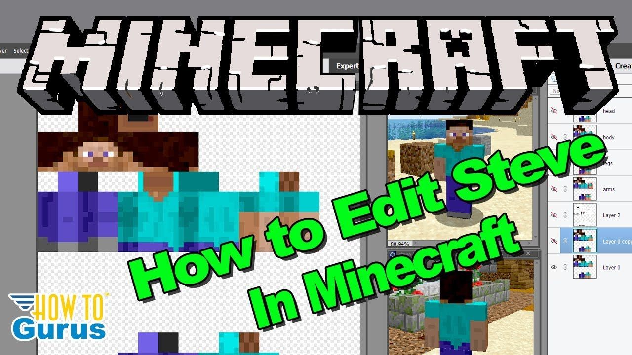 How To Minecraft Steve Edit Minecraft Steve Skin Edit Editing Minecr Minecraft Steve Minecraft Minecraft Character Skins