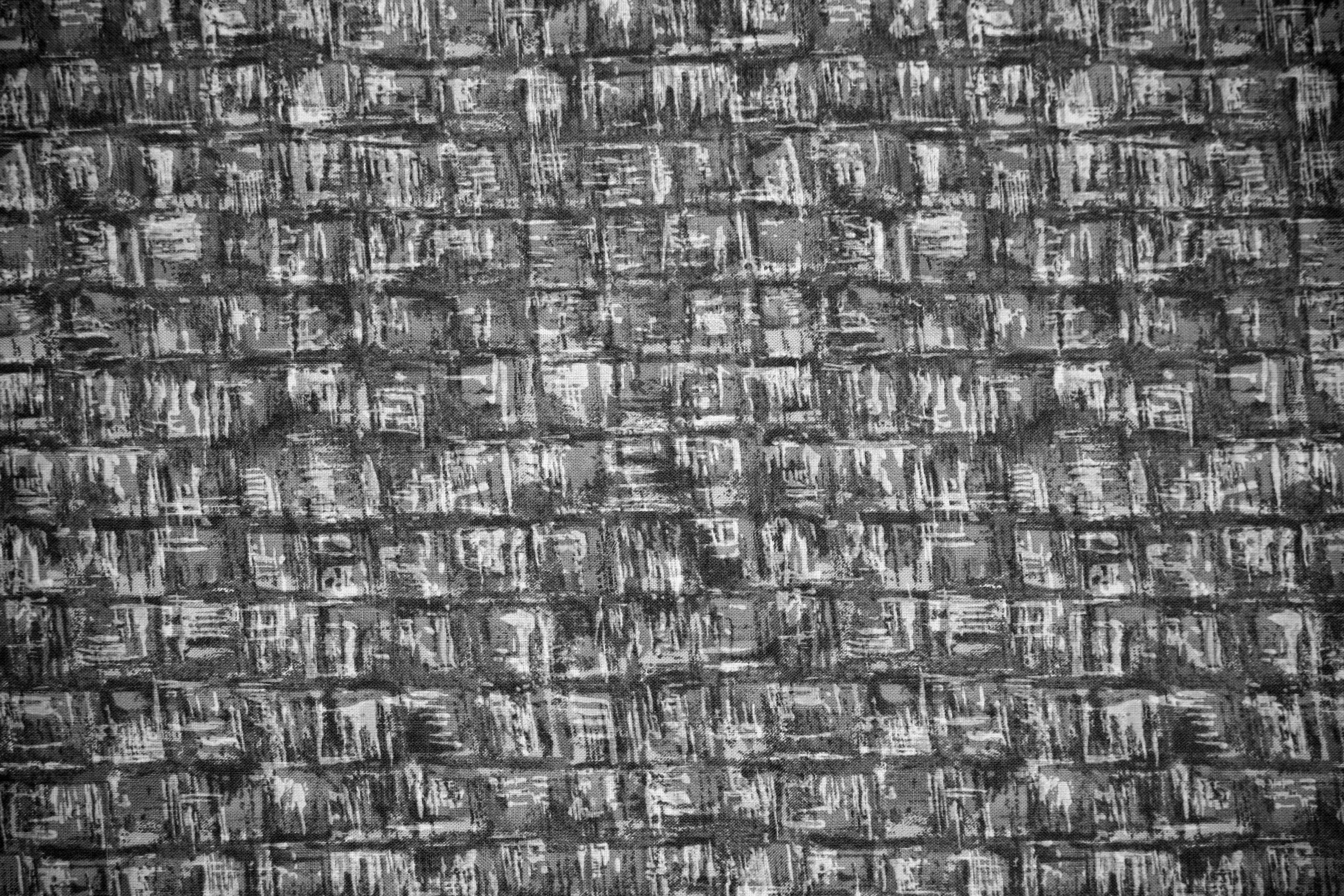 Black And White Abstract Squares Fabric Texture 3888