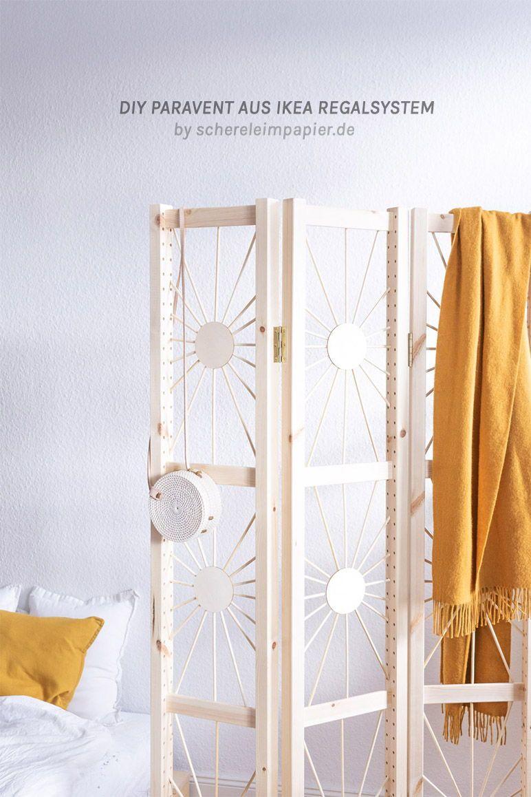 DIY Paravent Raumteiler Selber Machen   Möbel DIY Aus IKEA IVAR  Seitenteilen | Wohnen Mit Holz