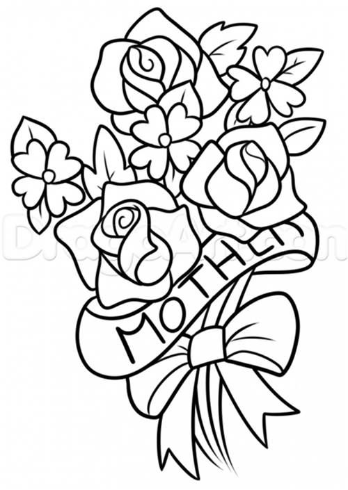 happy mothers day coloring pages happy mothers day drawing happy mothers day painting sheets