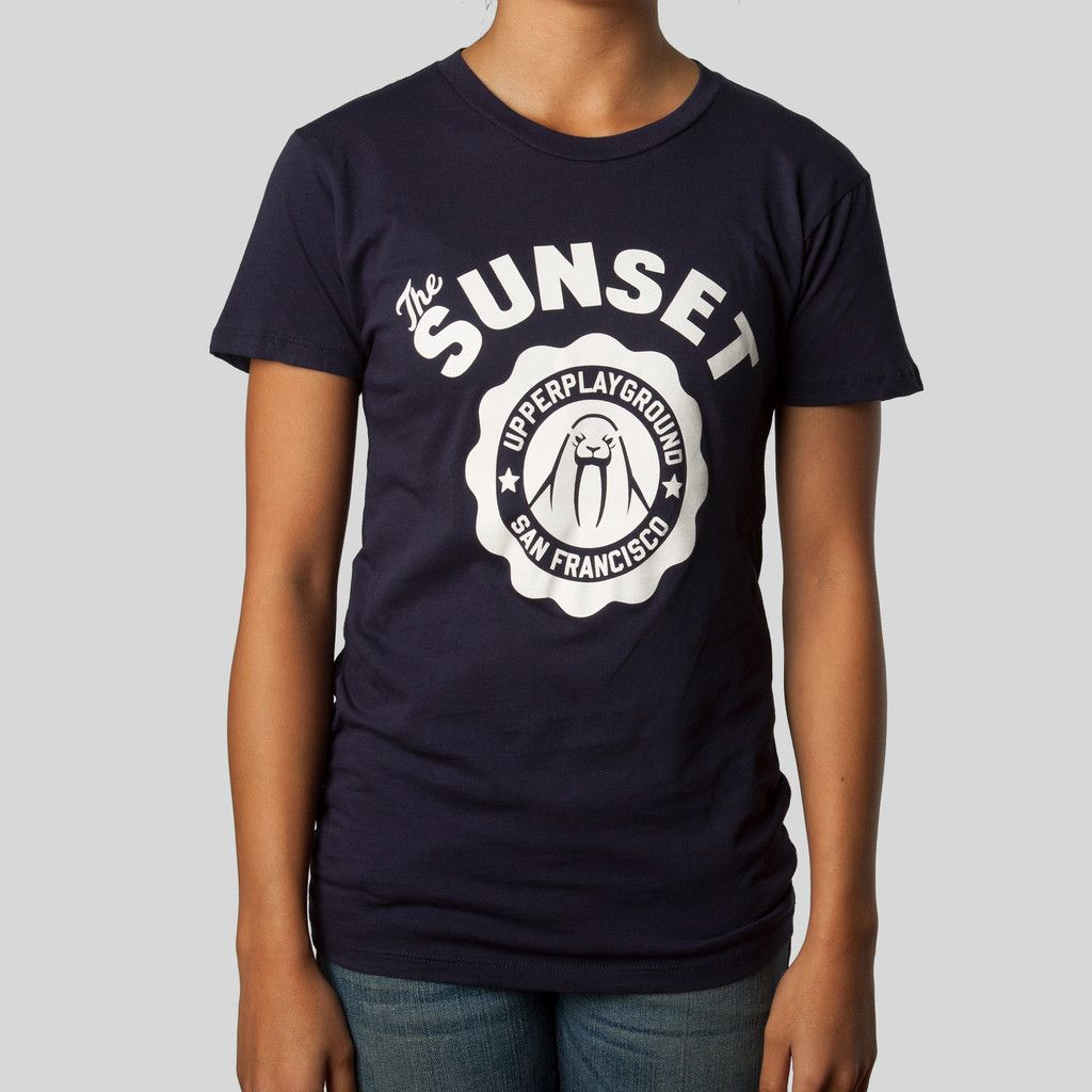upper-playground - Sunset Women's T-Shirt by Dustin Canalin #upperplayground @upperplayground #walrus #sunsetdistrict #sf #sunset #tshirt