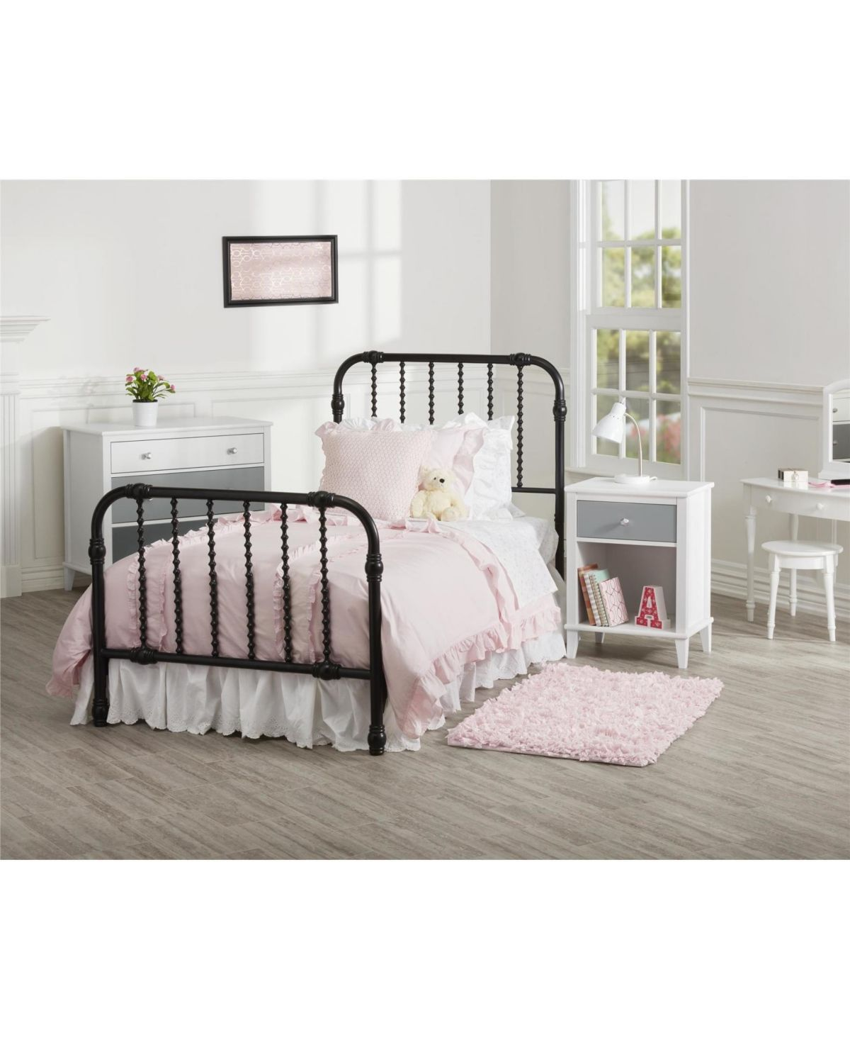 Little Seeds Wren Twin Metal Bed Black Contemporary