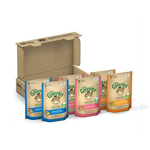 FELINE GREENIES Natural Dental Care Cat Treats Variety Pack Best Suggestion Online Pet Retail Products - Dogs , Cats, Birds, Fish, Horses ⋆ PetSep.com