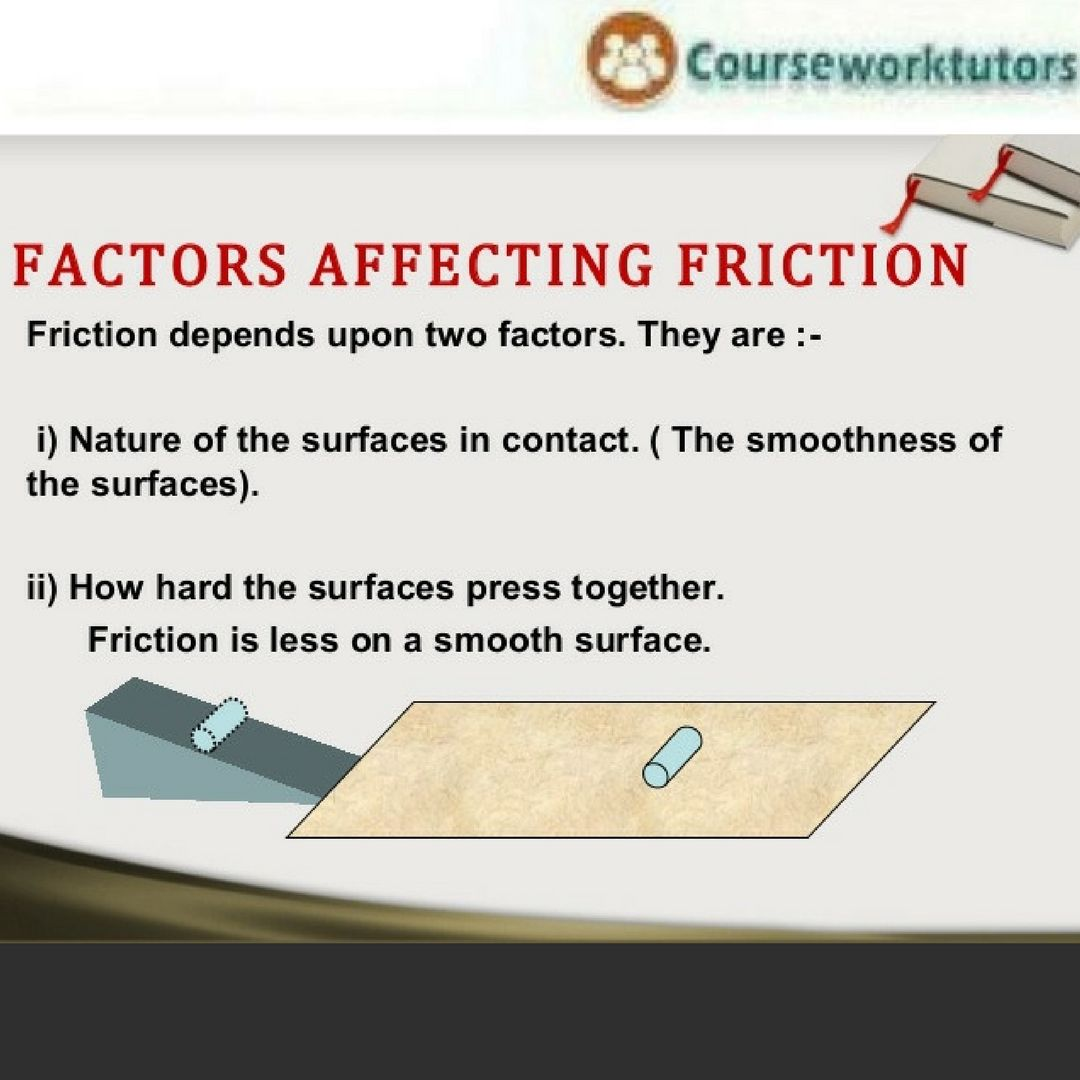 What Is The Main Cause Of Friction The Causes Of The Resistive Force Of Friction Are Molecular Adhesion Surface Rough Surface Roughness Writing Help Friction