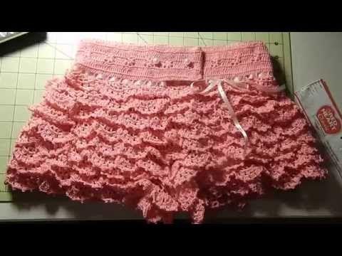 Short con vuelos a crochet por Rosario Soto | prendas primavera ...