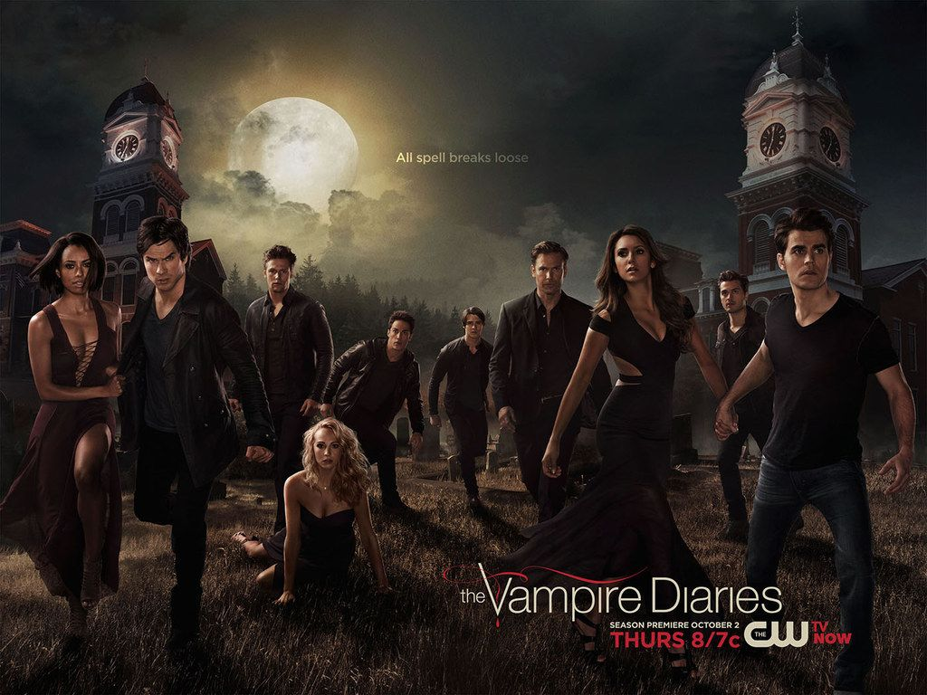 """The Vampire Diaries"" Season 6 Poster Tears Damon And Elena Apart - BuzzFeed"