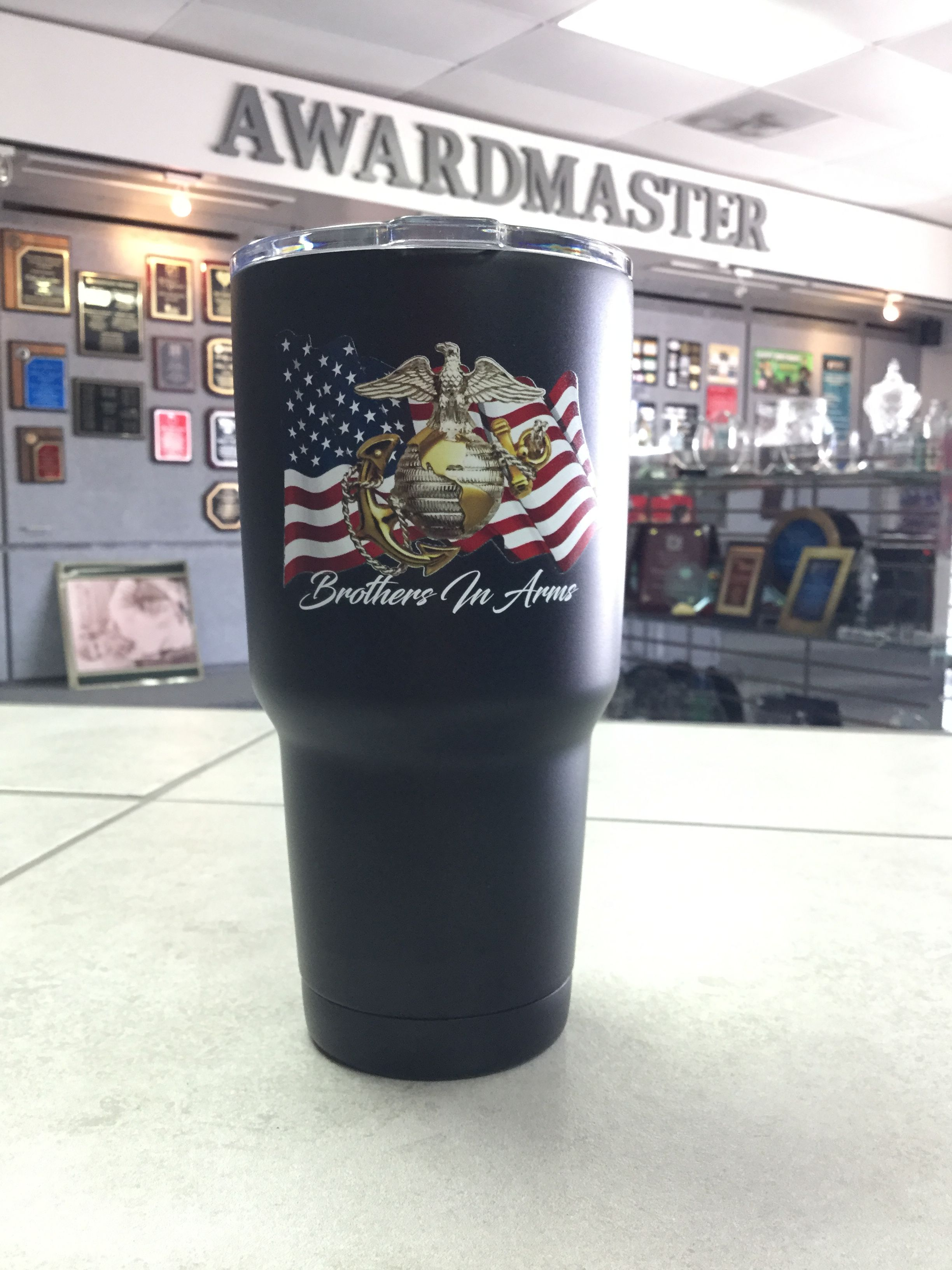 e70b5813566 Marine Corps Personalized Tumblers for a gift! #tumbler #printing #gifts # marines #military #veterans #american