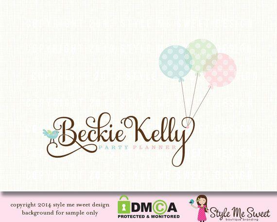 9c0c73c594693 Balloon logo party logo event planner logo wedding planner logo ...
