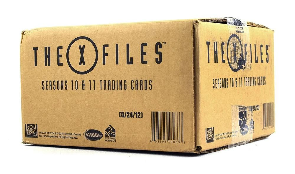 X Files Seasons 10 11 Trading Cards 12 Box Case Rittenhouse 2018 10 Things Trading Cards Collectible Cards