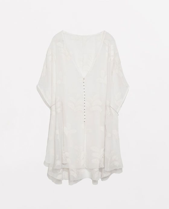 ZARA - NEW THIS WEEK - EMBROIDERED PONCHO