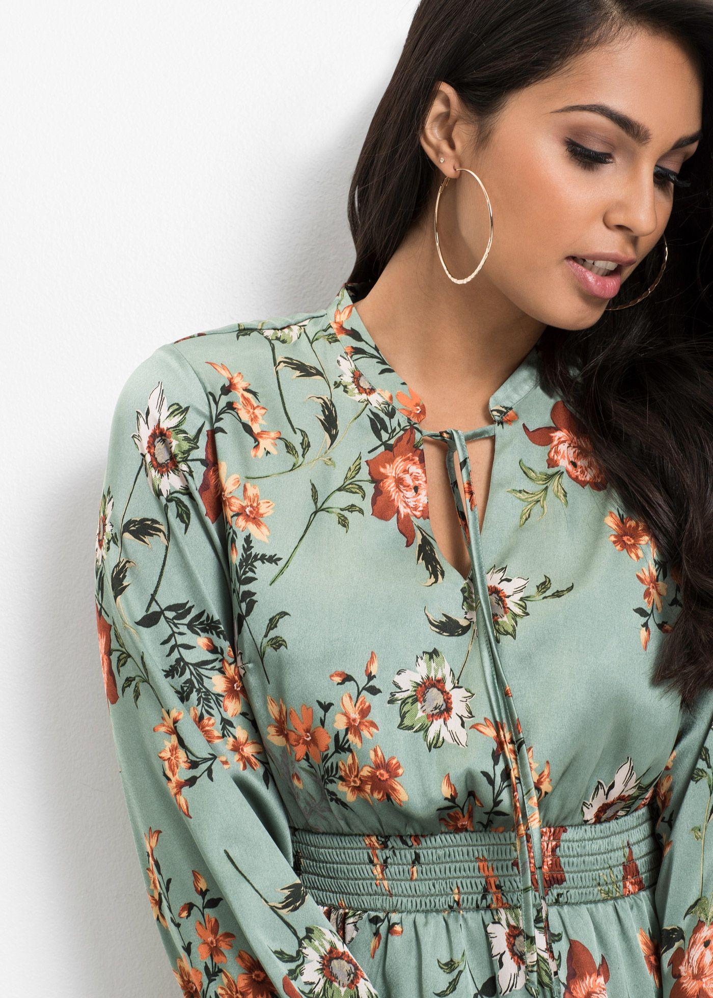 Kleid mit Blumenprint hellmint jetzt im Online Shop von ...