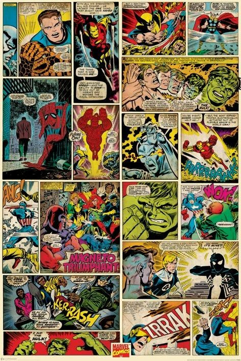 affiche marvel comics comic panels maison id es. Black Bedroom Furniture Sets. Home Design Ideas