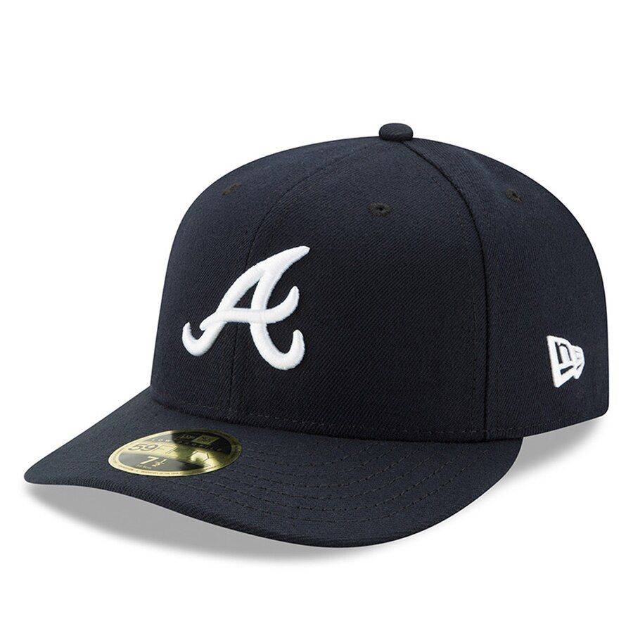 Atlanta Braves New Era Road Authentic Collection On Field Low Profile 59fifty Fitted Hat Navy In 2020 Atlanta Braves Fitted Hats Hats For Men