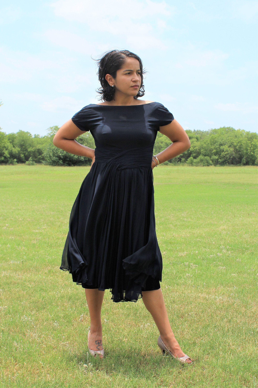 Vintage 1950s Lord Taylor Fifth Avenue Black Dress Full Etsy Full Skirt Dress Long Cocktail Dress Gorgeous Dresses [ 3000 x 1996 Pixel ]