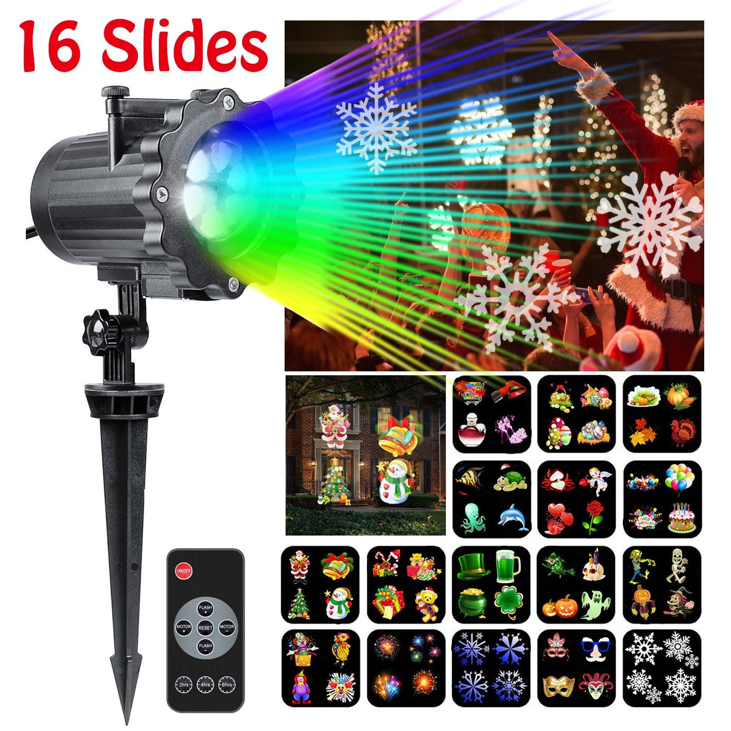 Led Light Projector CLEVERLOVE Newest Version Christmas Light