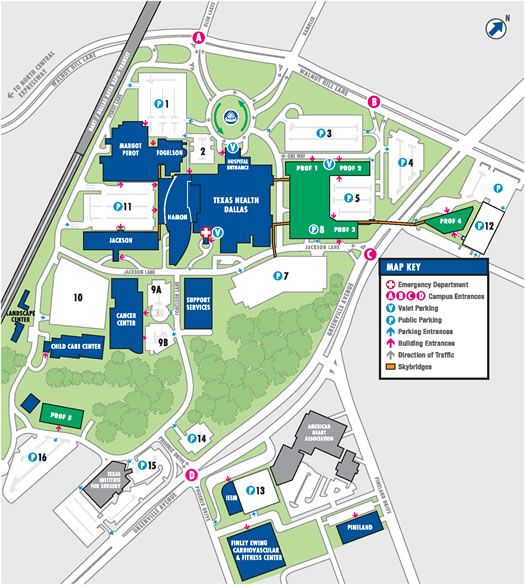 Texas Health Presbyterian Hospital Dallas campus map | hospital