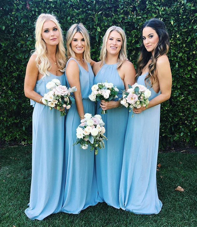 Show Me Your Mumu Steel Blue Bridesmaid Dresses - green and pink ...