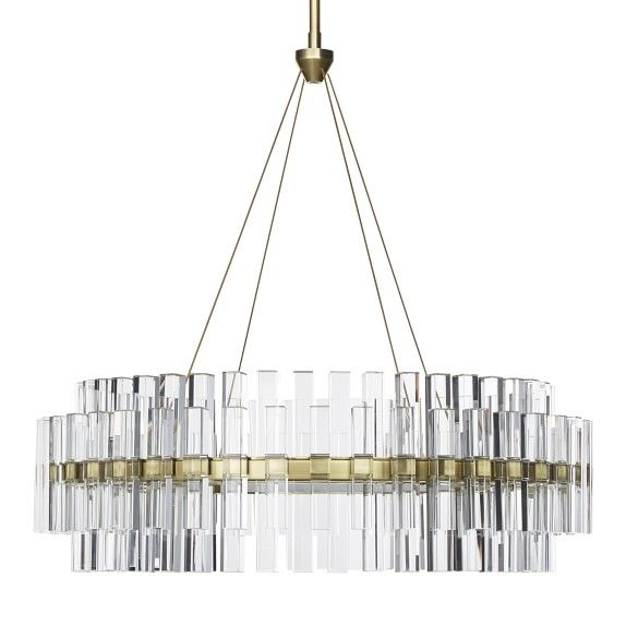 Phoebe Round Led Crystal Chandelier Small
