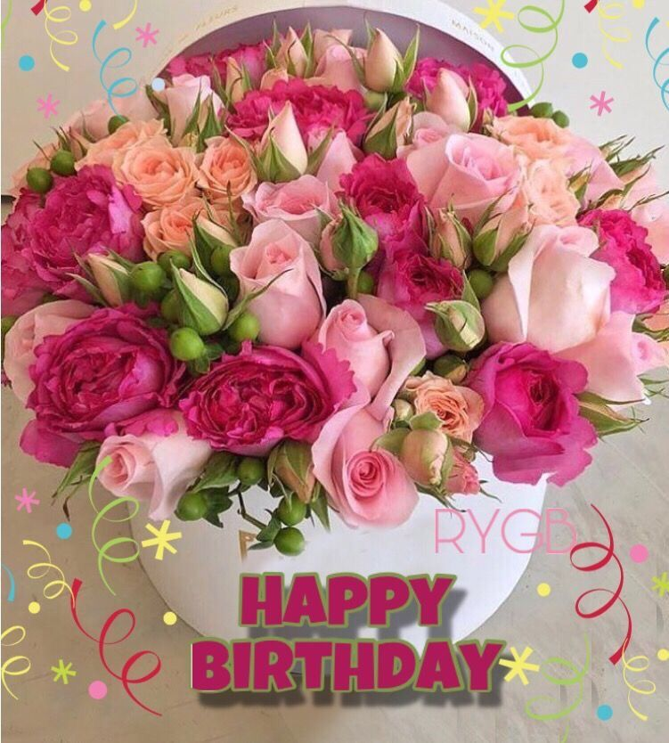 Pin by Deanna Baum on Wishes Birthday Floral Happy