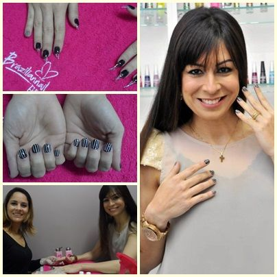 #FabianaSchunk - Linda e com as unhas Braziliannail, by Joana D'arc Souza!
