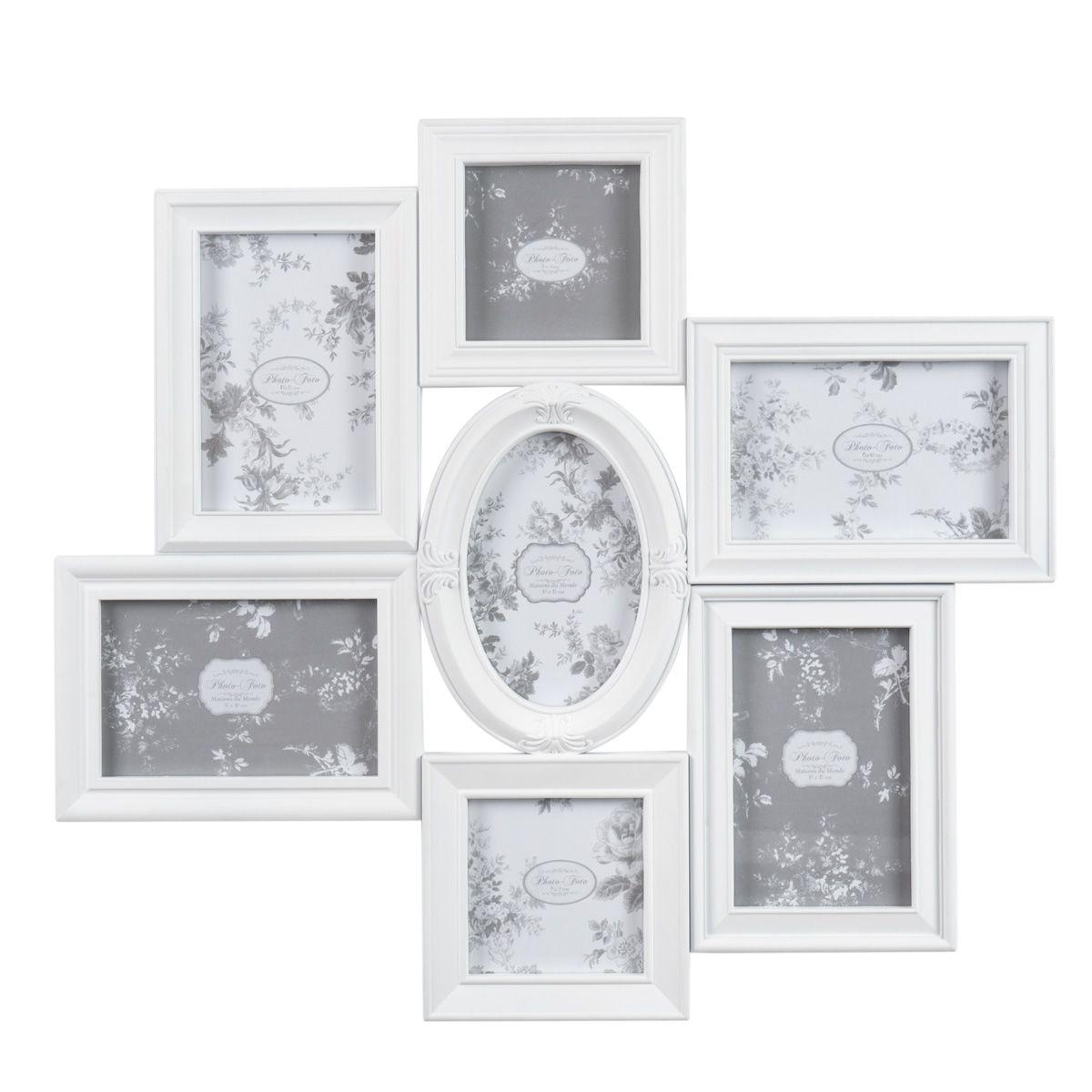 Cadre photo 7 vues blanc Amélia MAISON DU MONDE | plan de table ...