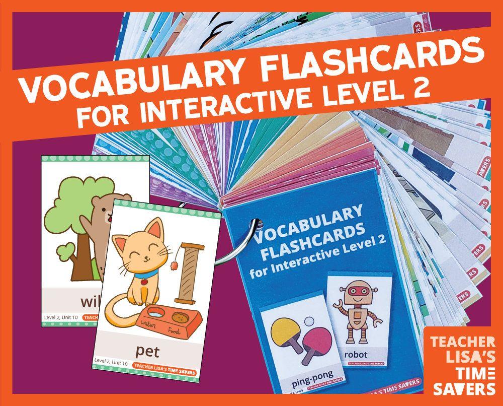 VIPKid Level 2 Vocabulary Flashcards Interactive Lessons