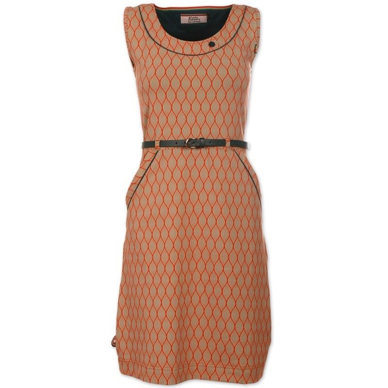 4FunkyFlavours dames jurk oranje Arms Of A Woman #4funkyflavours #zomer2015 #zomercollectie #dameskleding