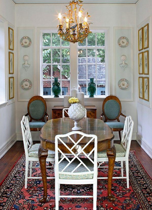 50 Einrichtungsideen Für Kleine Esszimmer   Esszimmer Esstisch Mit Stühlen  Fenster Kronleuchter