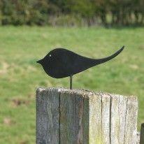 A metal garden bird called Bertie