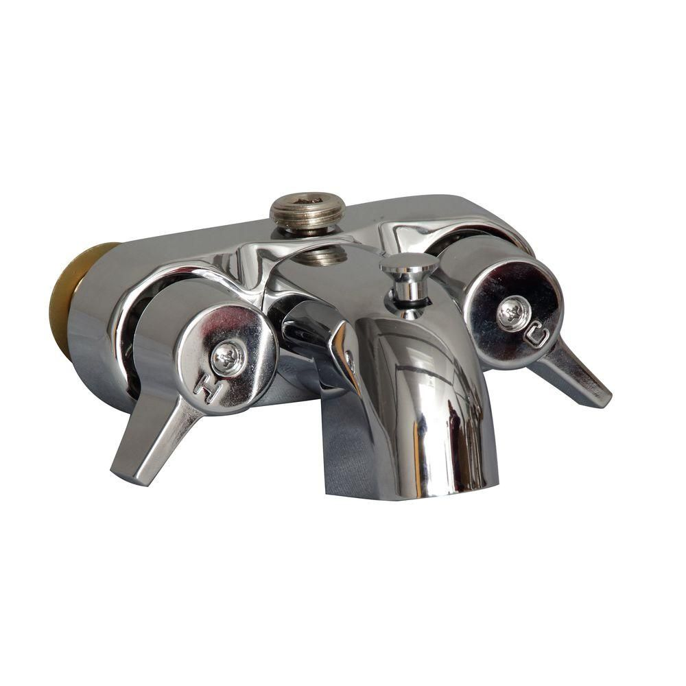 Pegasus 2-Handle Claw Foot Tub Faucet in Polished Chrome ...