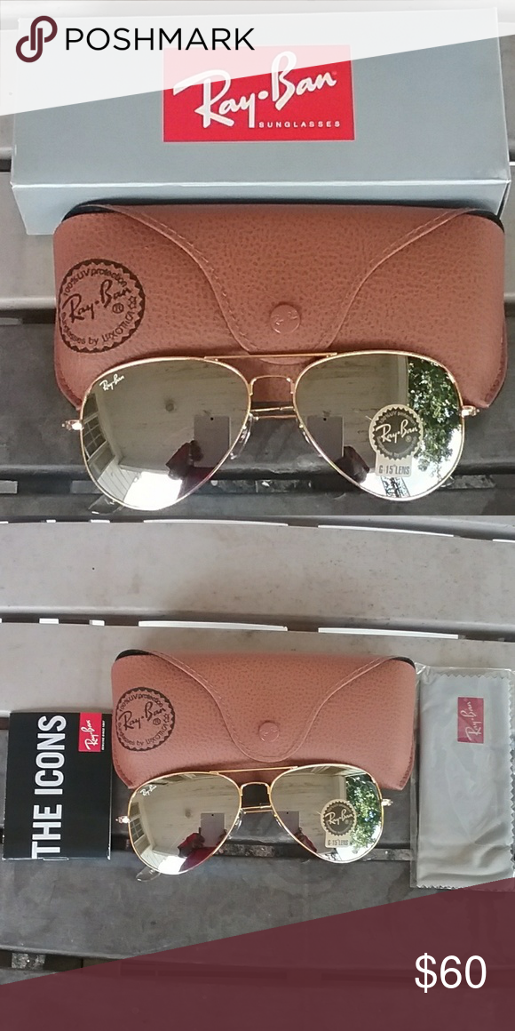 a9b24c96a Brand New Silver RayBan Aviators 58mm Never Worn Brand new never worn.  Great price Ray-Ban Accessories Glasses