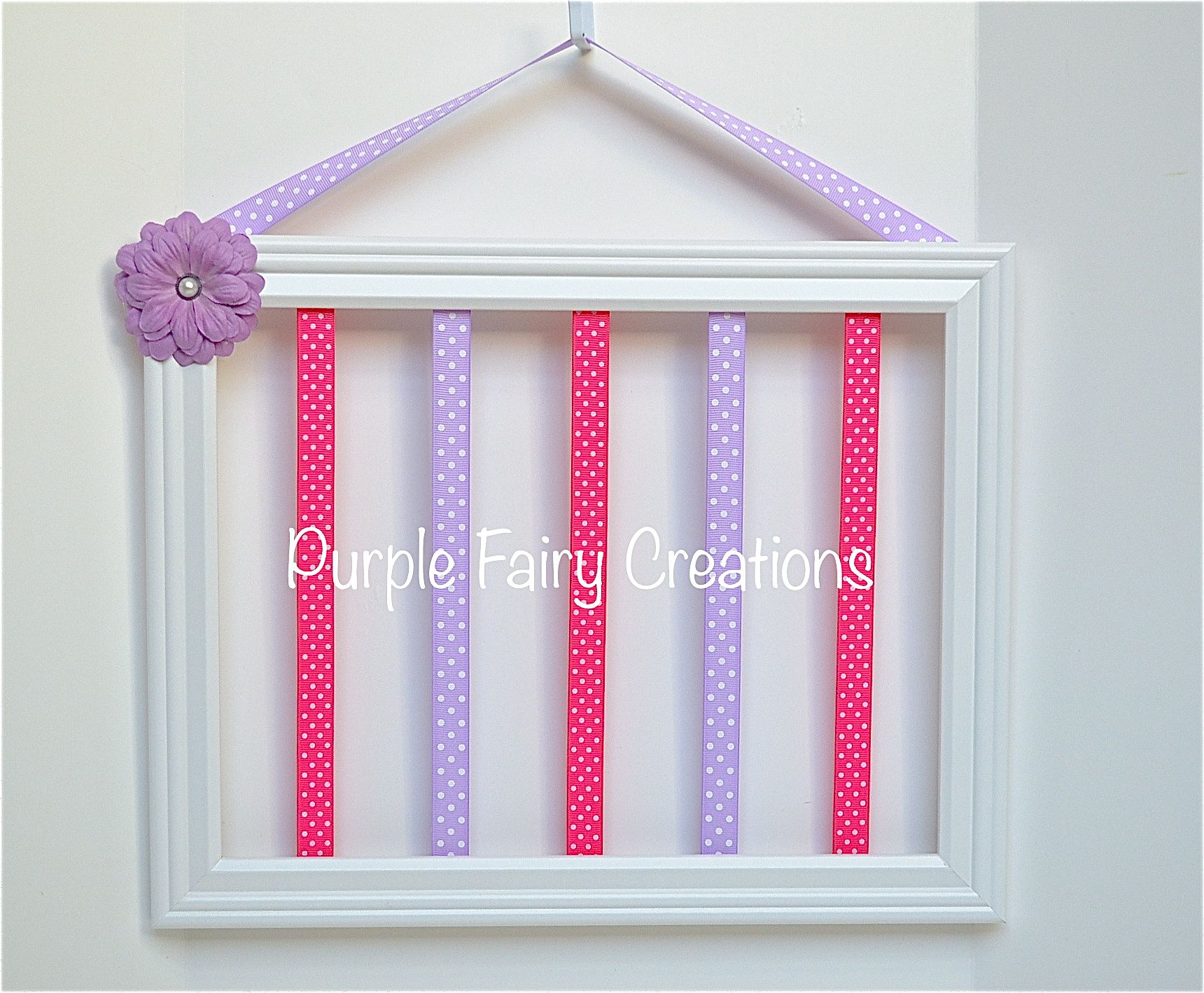 Accessories Organizer Picture Frame - White, Hot Pink, Lavender and ...