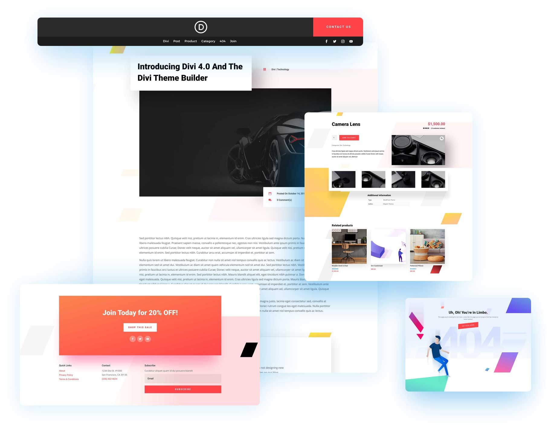 Download The Fourth Free Theme Builder Pack For Divi In 2020 Blog Themes Theme Divi Theme