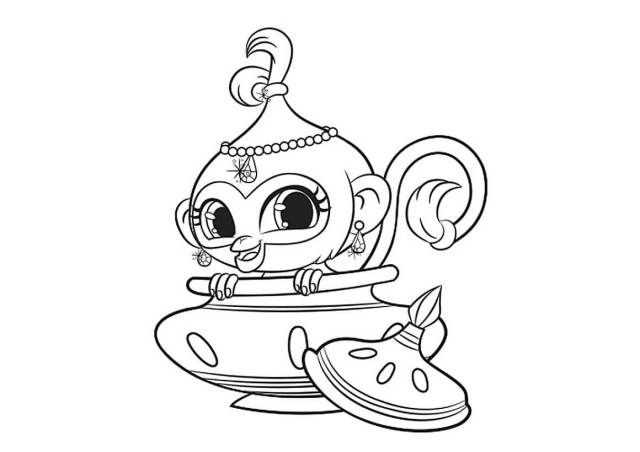 Shimmer And Shine Coloring Pages | birthdays | Pinterest | Coloring ...