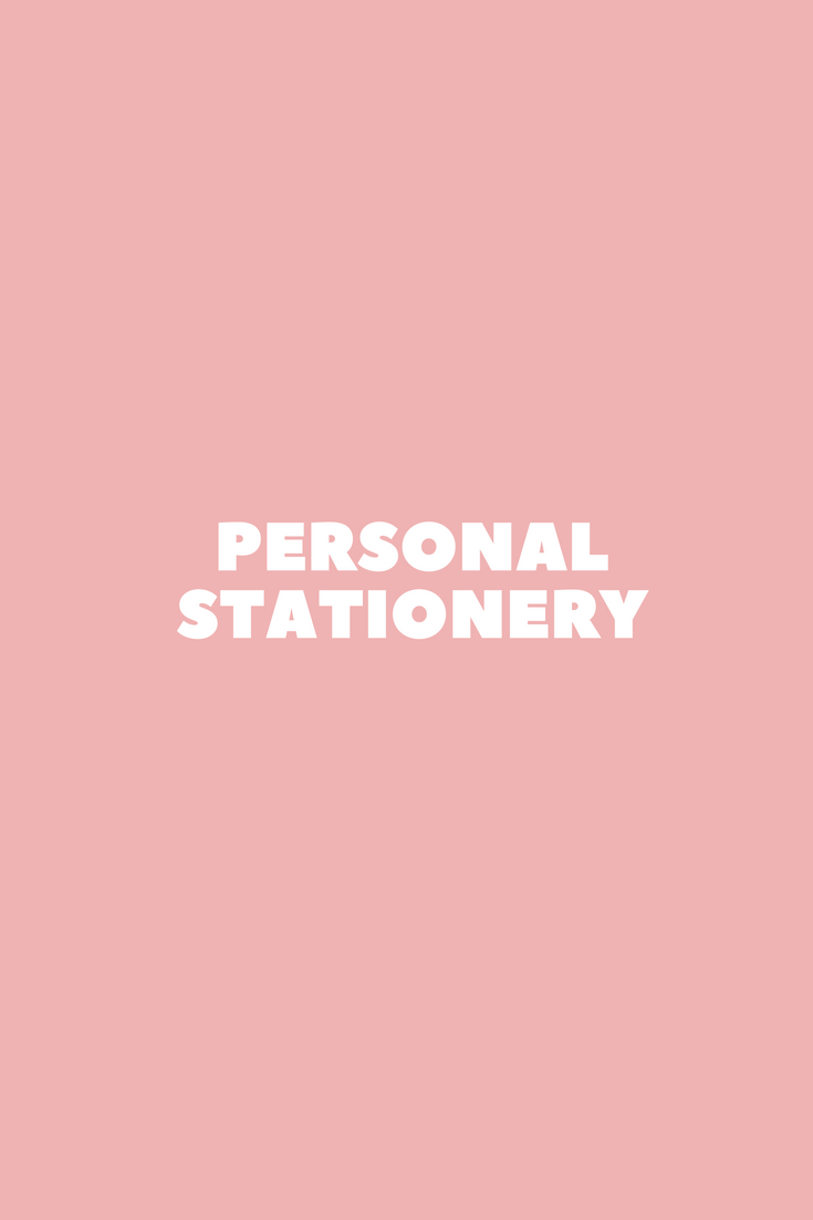 Personalized Flat Classic Stationery//Professional Stationary Notecard And Envelope Set PRESTIGE