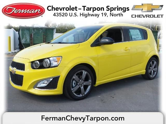 2015 Chevrolet Sonic Hatch Rs Auto Bright Yellow Chevrolet Chevrolet Sonic Used Cars