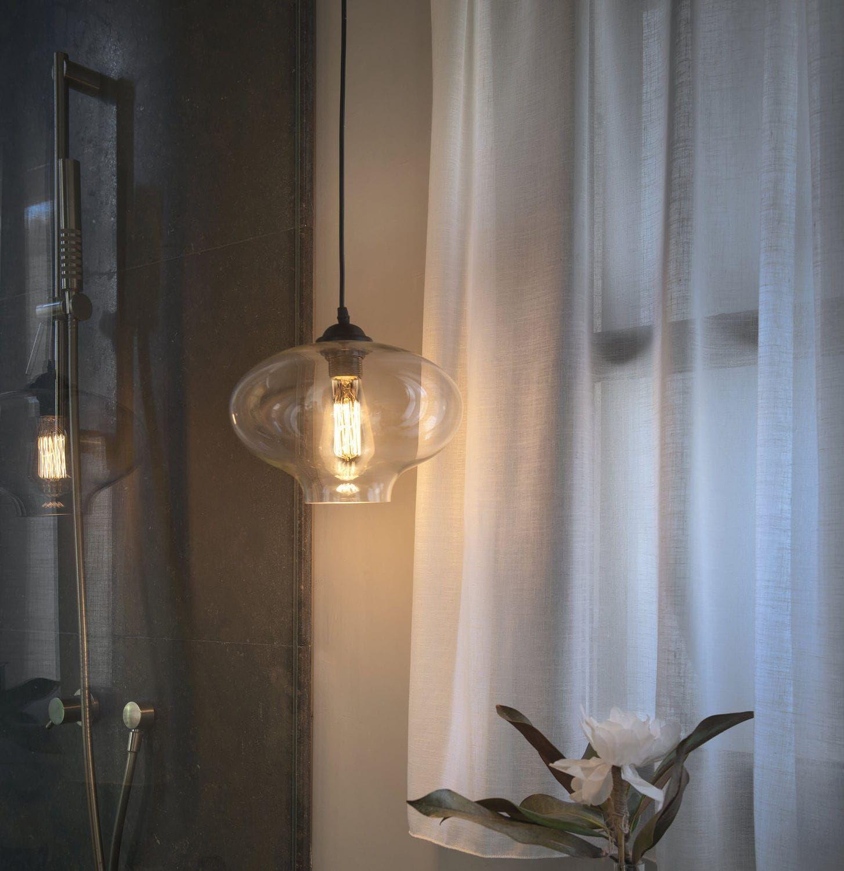 Lampe Suspension Contemporaine En Verre En M Tal Alma Faro