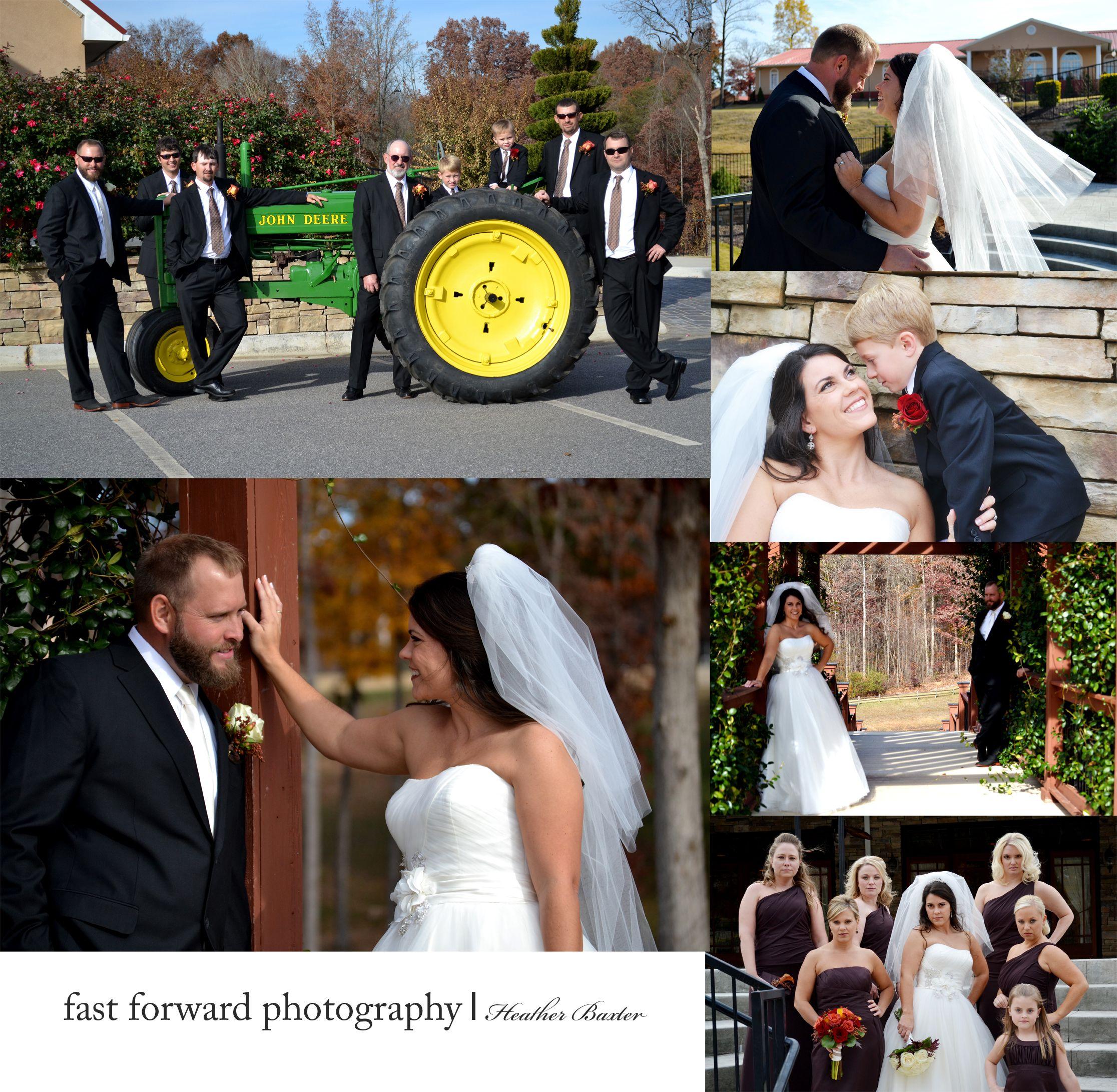 Camo and orange wedding dresses  wedding photography brown bridesmaid dress bride veil john deer