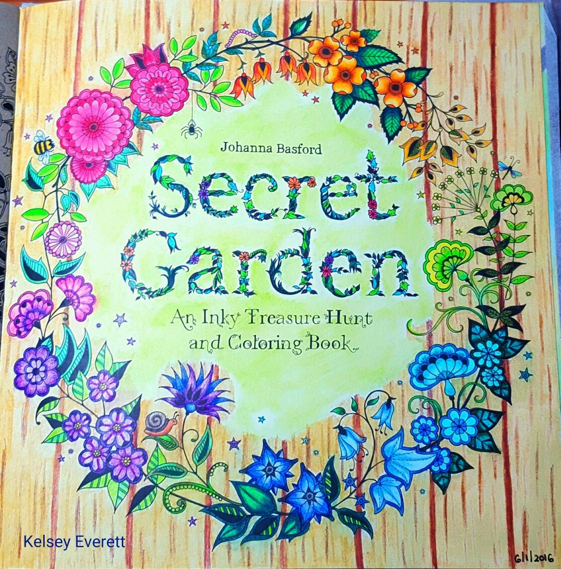 Johanna Basfords Secret Garden Coloring Book Title Page Colored By Kelsey Everett
